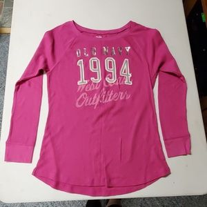 Old navy size XL pink waffle knit